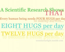 How many Hugs do you get a day?